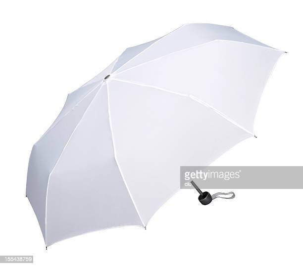 Open white umbrella
