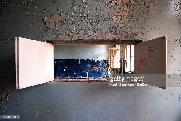 Open Window In Abandoned Building