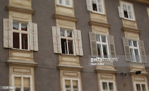 Open window shutters are seen on May 29 2010 in Graz Austria