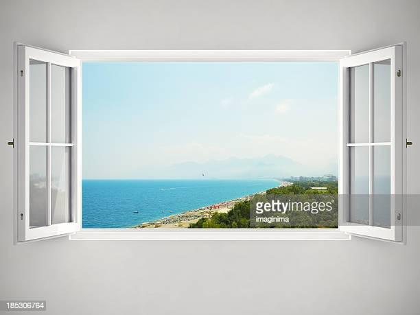 Öffnen Sie Fenster mit Blick auf