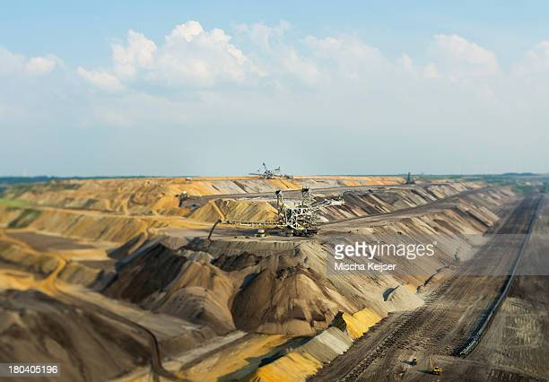Opencast site for extracting brown coal, Juchen, Germany