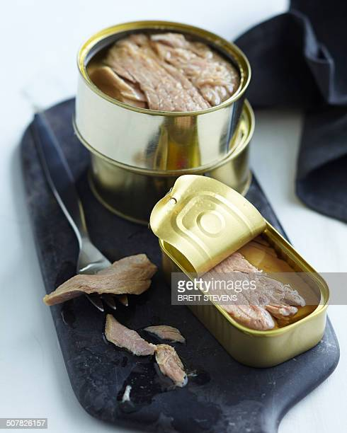 Opened canned tuna