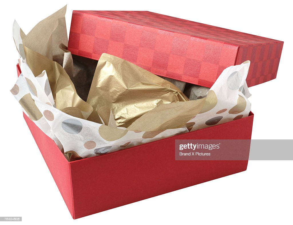 Opened Christmas gift : Stock Photo