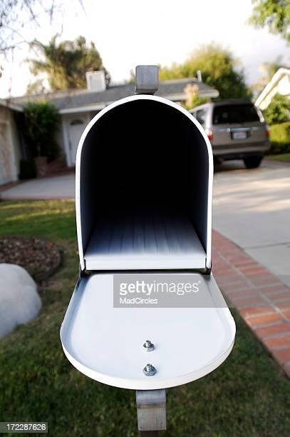 Eröffnete leere Briefkasten