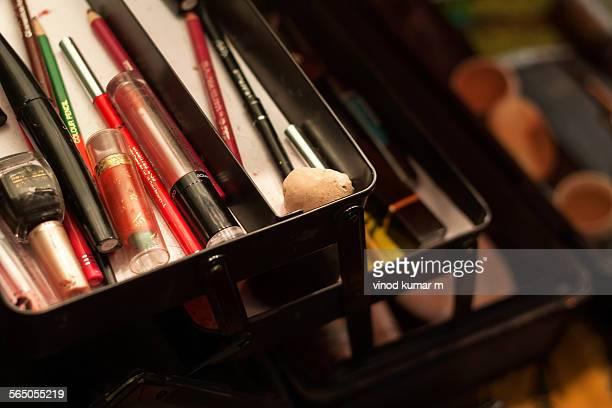 Opened makeup box