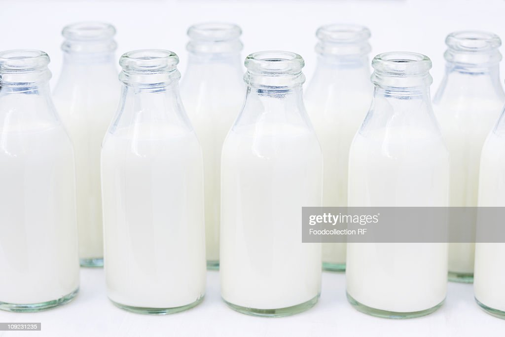 Opened small bottles of cream