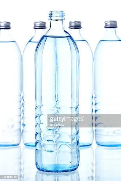 opened water bottle