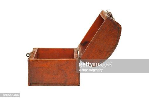 Aberto caixa de madeira, Jóias : Foto de stock