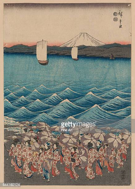 Opening Celebration of Benzaiten Shrine at Enoshima by Ando Hiroshige