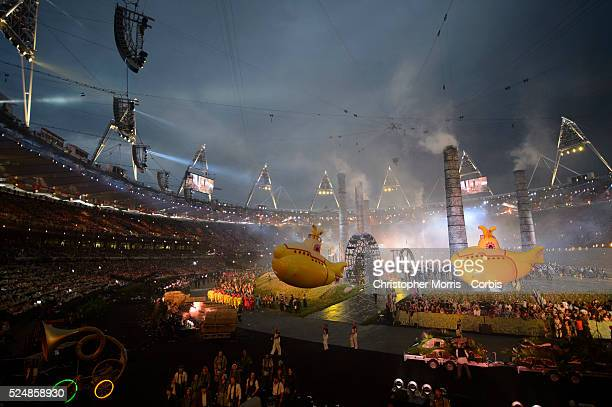 Opening Ceremonies for The 2012 London Olympic Games at Olympic Stadium London