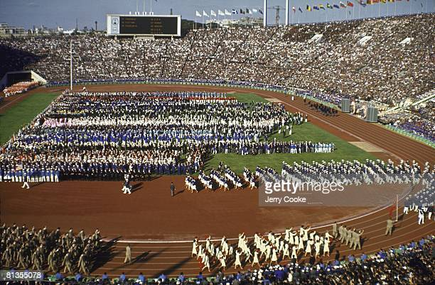 Opening Ceremony 1964 Summer Olympics View of Olympic Stadium Tokyo JPN