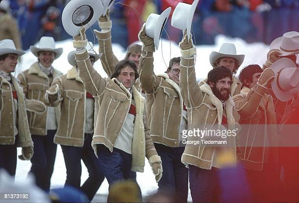 Opening Ceremony 1980 Winter Olympics View of Team USA during ceremony Lake Placid NY 2/13/1980