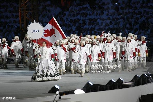 Opening Ceremony 2006 Winter Olympics View of Team Canada entering stadium Torino Italy 2/10/2006