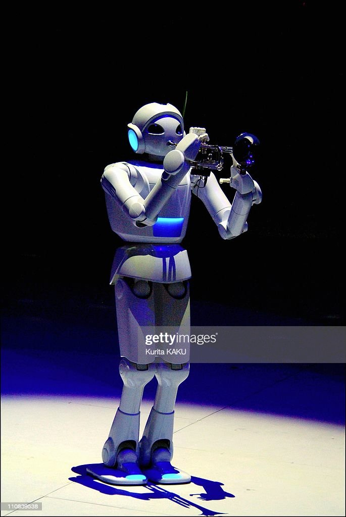 Opening Ceremony For The Toyota Group Pavilion At The 2005 World Exposition In Nagoya Aichi Japan On March 10 2005 Toyota Motor's robot perform...