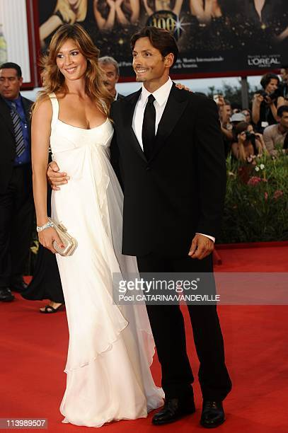 Opening ceremony of the 66th Venice Film Festival in Venice Italy On September 02 2009Silvia Toffanin and Piersilvio Berlusconi at the Opening...