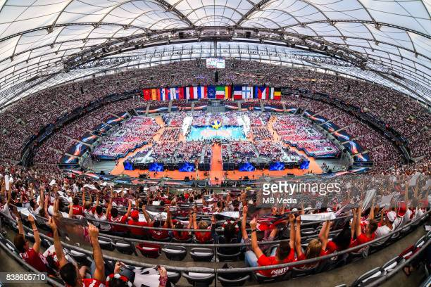 Opening ceremony of the European Men's Volleyball Championships 2017 match between Poland and Serbia on August 24 2017 in Warszawa Poland