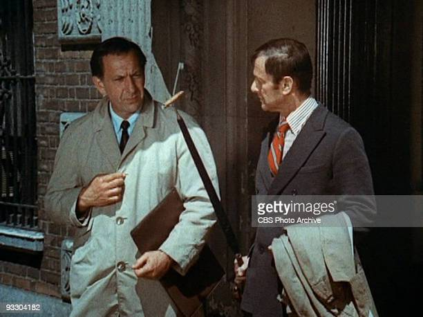 Opening credits for THE ODD COUPLE Jack Klugman as Oscar Madison left and Tony Randall as Felix Unger Image dated 1970 Image is a screen grab