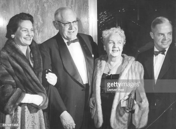 Opening Night at Bonfils Theater Mrs Dayton Denious Rollie Bradford Mrs Bradford and Mr Denious Credit Denver Post