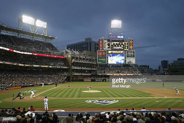 Opening night at PETCO Park on April 8 2004 in San Diego California The San Diego Padres defeated the San Francisco Giants 43