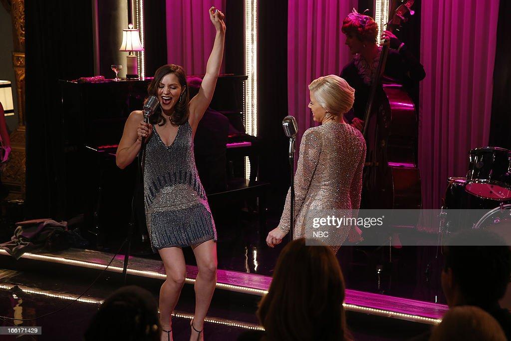 SMASH 'Opening Night' Episode 212 Pictured Katharine McPhee as Karen Cartwright Megan Hilty as Ivy Lynn