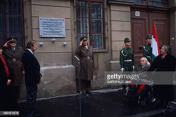 Opening Of A Plate To The Memory Of JeanPierre Pedrazzini In Budapest 34 ans après la révolution de 1956 à Budapest la Hongrie rend hommage à ses...