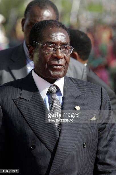 Opening Of The 23Rd AfricanFrench Summit On December 3Rd 2005 In Bamako Mali Here Robert Mugabe President Of Zimbabwe