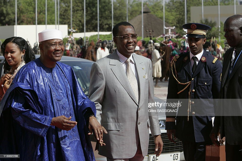 Opening Of The 23Rd African-French Summit - On December 3Rd, 2005 - In Bamako, Mali - Here, Amadou Toumani Toure President Of Mali And Idriss Deby, President Of Tchad