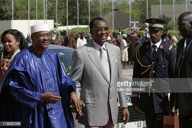 Opening Of The 23Rd AfricanFrench Summit On December 3Rd 2005 In Bamako Mali Here Amadou Toumani Toure President Of Mali And Idriss Deby President Of...