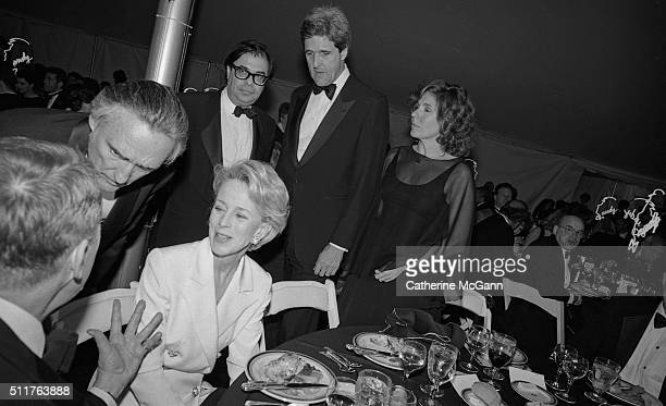 Opening of the Andy Warhol Museum in May 1994 in Pittsburgh PA Pictured LR Dennis Hopper unidentified Bob Colacello John Kerry and Teresa Heinz Kerry