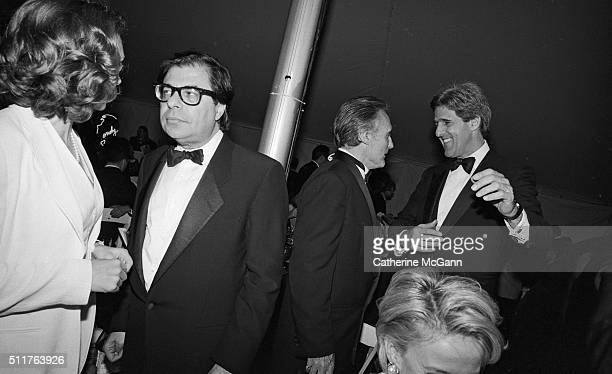 Opening of the Andy Warhol Museum in May 1994 in Pittsburgh PA Pictured LR Bob Colacello Dennis Hopper and John Kerry