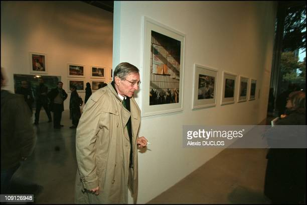 Opening Of The Gerard Garouste And William Eggleston Exhibitions At The Cartier Foundation On November 18Th 2001 In Paris France William Eggleston