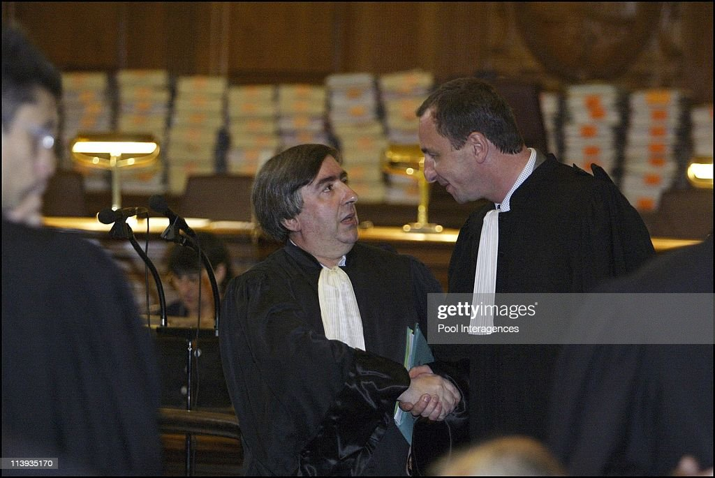 Opening of the murder trial of the suspected assassins of <a gi-track='captionPersonalityLinkClicked' href=/galleries/search?phrase=Claude+Erignac&family=editorial&specificpeople=883251 ng-click='$event.stopPropagation()'>Claude Erignac</a> In Paris, France On June 02, 2003 -Lawyer Vincent Stagnara.
