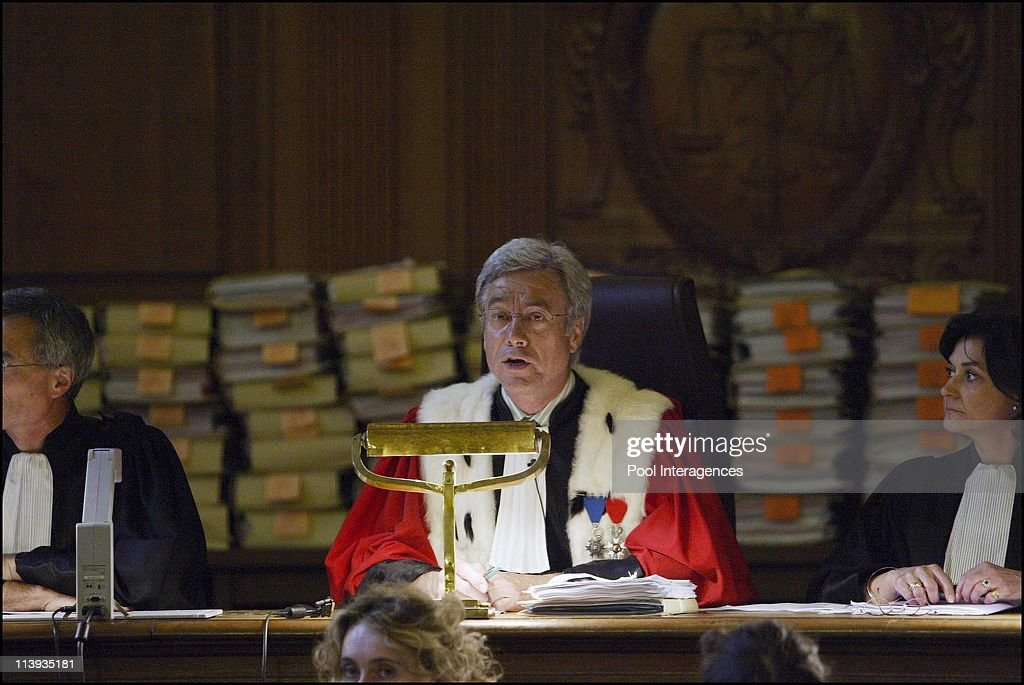 Opening of the murder trial of the suspected assassins of <a gi-track='captionPersonalityLinkClicked' href=/galleries/search?phrase=Claude+Erignac&family=editorial&specificpeople=883251 ng-click='$event.stopPropagation()'>Claude Erignac</a> In Paris, France On June 02, 2003 -Judge Yves Jacob.