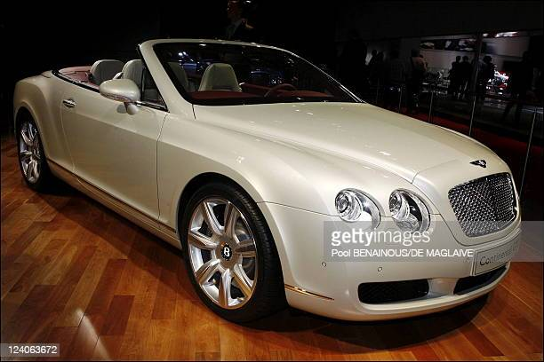 Opening of the Paris auto show In Paris France On September 28 2006 Bentley Gtc