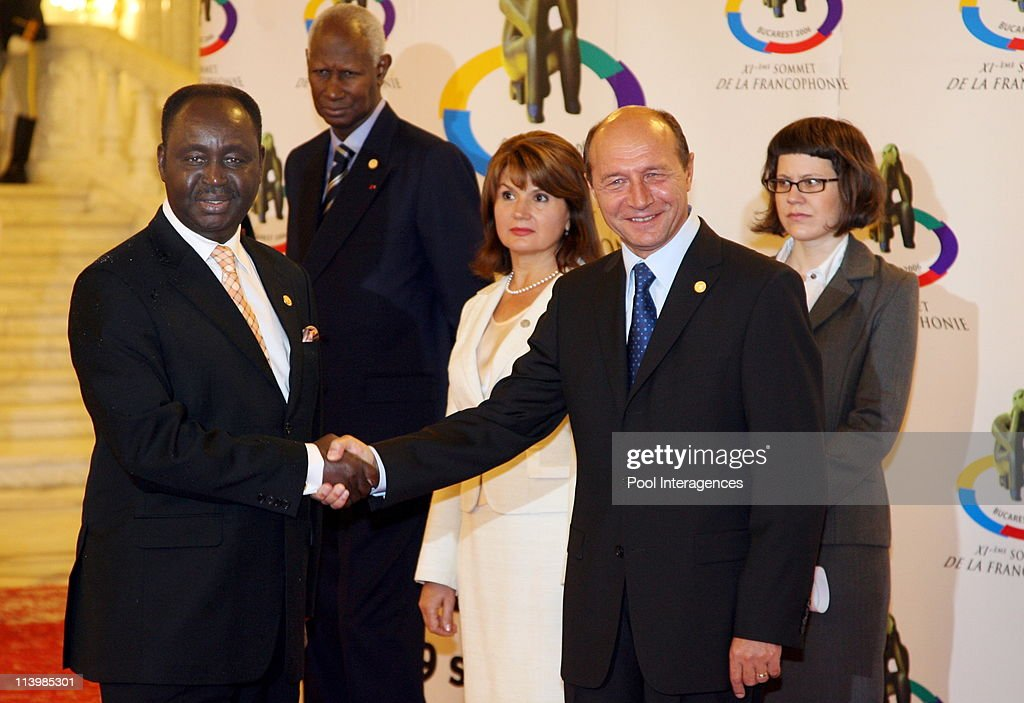 Opening of the XIth French Speaking Summit In Bucharest, Romania On September 28, 2006 -Denis Sassou Nguesso, President of Congo and Romanian President Traian Babescu.