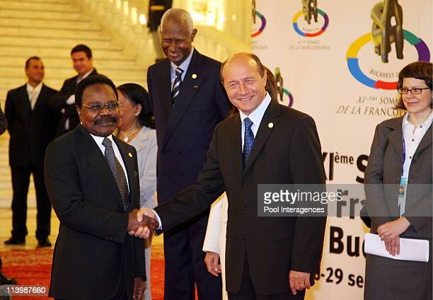 Opening of the XIth French Speaking Summit In Bucharest Romania On September 28 2006 Sar Albert II Grimaldi of Monaco and Romanian President Traian...