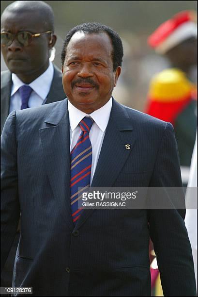 Opening Of The Xth French Speaking Summit Arrival Of The Heads Of States On November 26 2004 In Ouagadougou Burkina Faso Paul Biya President Cameroun