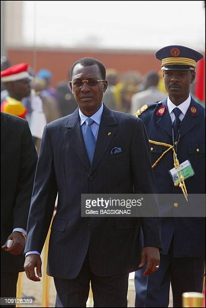 Opening Of The Xth French Speaking Summit Arrival Of The Heads Of States On November 26 2004 In Ouagadougou Burkina Faso President Idriss Deby Tchad