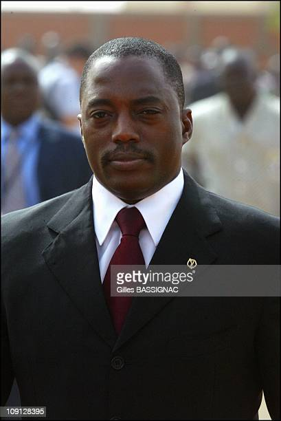 Opening Of The Xth French Speaking Summit Arrival Of The Heads Of States On November 26 2004 In Ouagadougou Burkina Faso President Joseph Kabila...