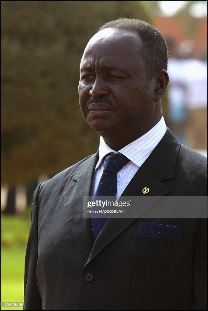 Opening Of The Xth French Speaking Summit, Arrival Of The Heads Of States . On November 26, 2004 In Ouagadougou, Burkina Faso. Franþois Bozize, President Centrafrique