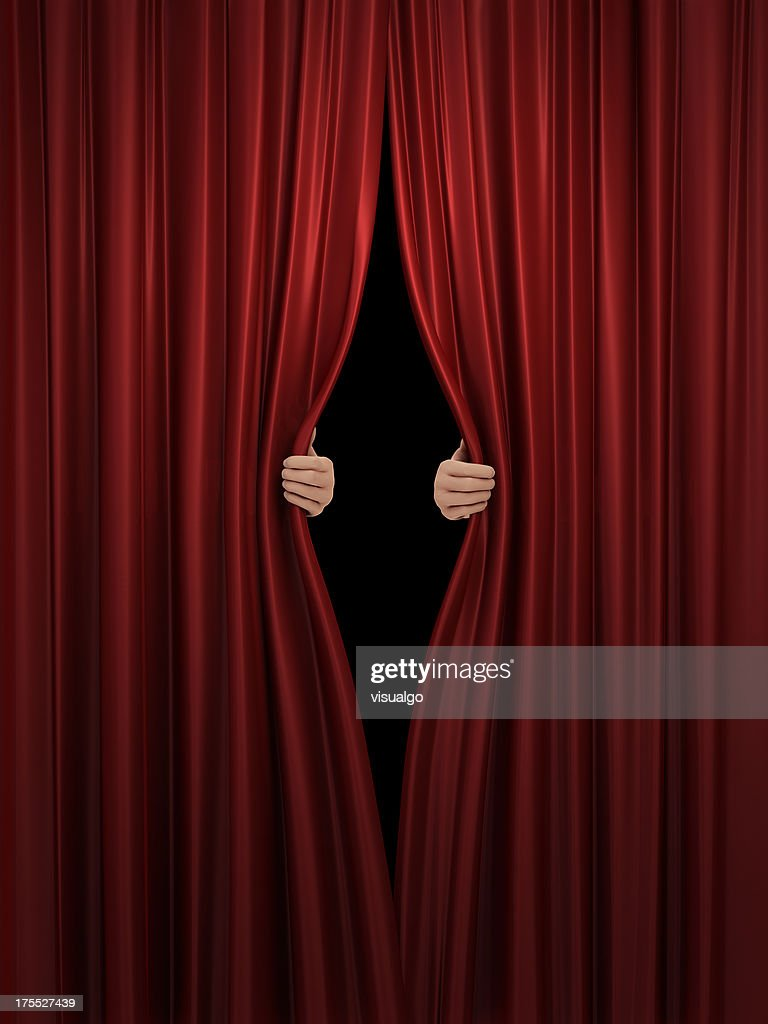 Big event red curtains with spotlight stock photo getty images - Getty Images
