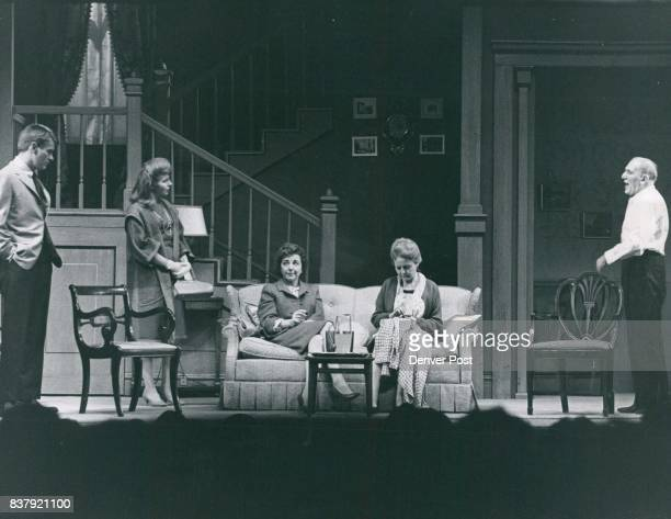 Opening scene finds Nancy Carroll seated at right a household drudge with her family Her husband is played by William Bendix At left are Will...