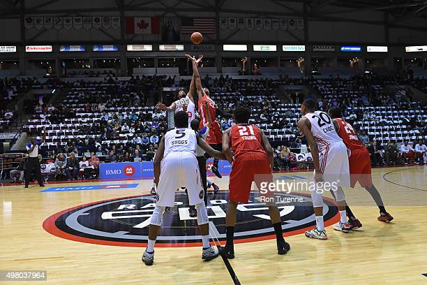 Opening tipoff between the Raptors 905 and the Maine Red Claws on November 19 2015 at the Hershey Centre in Mississauga Ontario Canada NOTE TO USER...