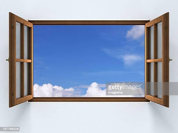 Eröffnung in den blauen Himmel.