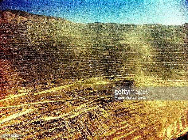 Open-Pit Mine Against Sky