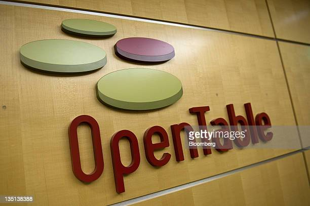 OpenTable Inc signage is displayed at the company's headquarters in San Francisco California US on Tuesday Dec 6 2011 OpenTable Inc the...