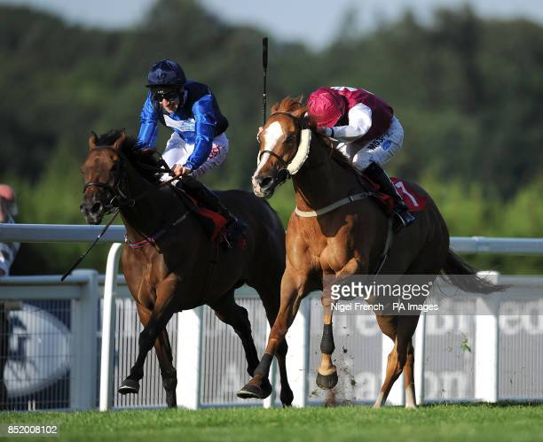 Opera Box ridden by George Baker goes onto win The Watch Fred's Pushes On Betfred TV Handicap Stakes ahead of Tinshu ridden by Paul Hanagan in second...