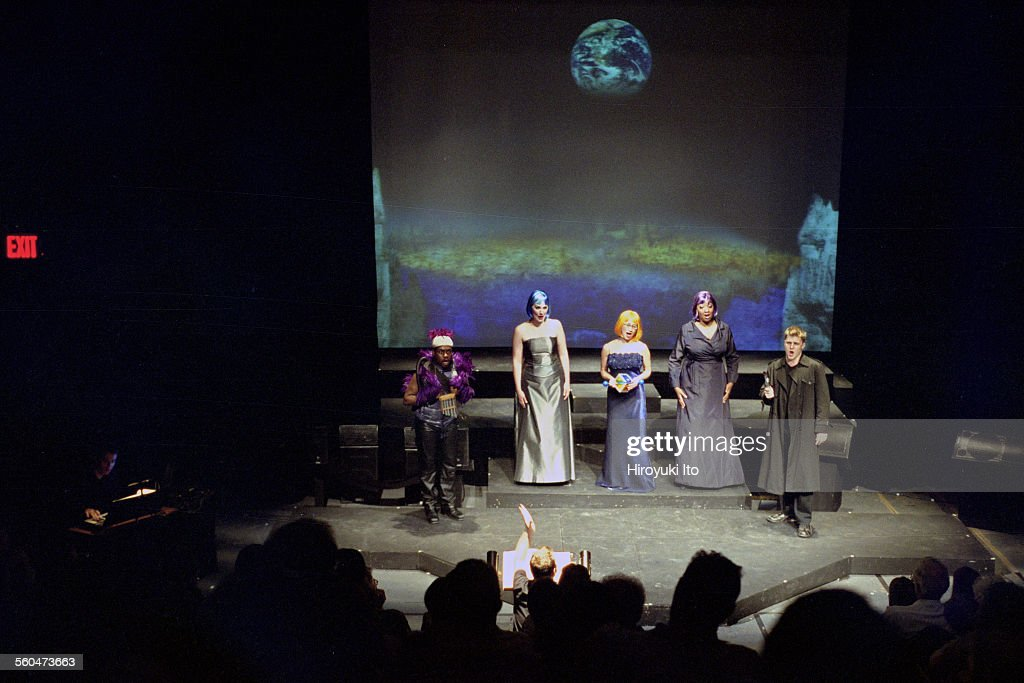 Opera Company of Brooklyn performing Mozart's 'Magic Flute' at the Voorhees Theater on Saturday night August 9 2003This imageFrom left Kenneth...