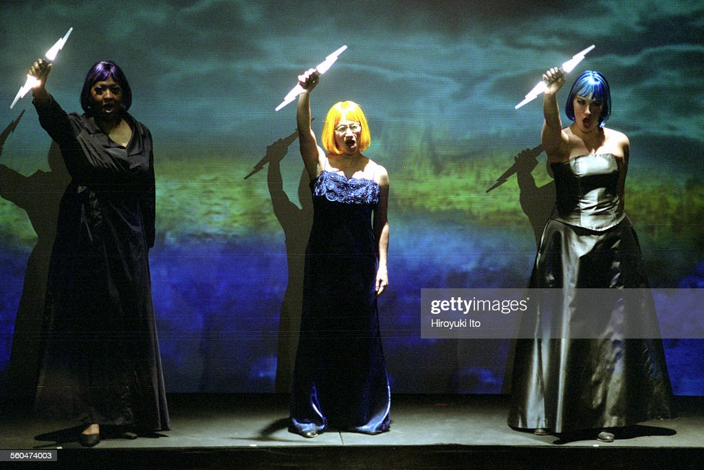 Opera Company of Brooklyn performing Mozart's 'Magic Flute' at the Voorhees Theater on Saturday night August 9 2003This imageFrom left Jamet Pittman...