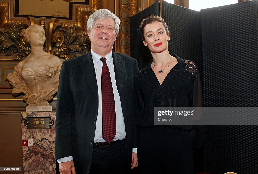 Opera de Paris director Stephane Lissner (L) poses with newly appointed Dance Director of the Paris Opera <a gi-track='captionPersonalityLinkClicked' href=/galleries/search?phrase=Aurelie+Dupont&family=editorial&specificpeople=2903830 ng-click='$event.stopPropagation()'>Aurelie Dupont</a> after a press conference at the Opera Garnier on February 4, 2016 in Paris, France. Choreographer Benjamin Millepied said he was quitting the Paris Opera Ballet after little more than a year in the role 'for personal reasons'. Former French ballet dancer <a gi-track='captionPersonalityLinkClicked' href=/galleries/search?phrase=Aurelie+Dupont&family=editorial&specificpeople=2903830 ng-click='$event.stopPropagation()'>Aurelie Dupont</a> will replace him..